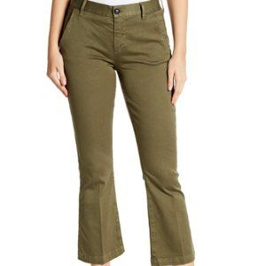 FRAME Le Crop Mini Boot Pants Cropped Chino Pants